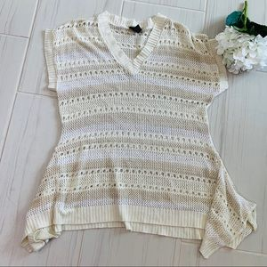 Lane Bryant cream lace sweater blouse 18/20